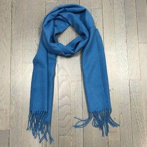 Accessories - Women's Blue Fringe Pashmina Fashion Scarf